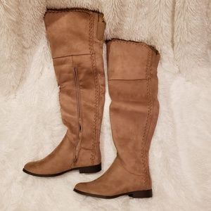 NWOT XOXO Over The Knee Suede Boots